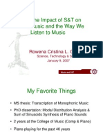 Science & Technology and Music by Rowena Guevara