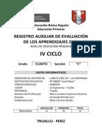 Registro Oficial de Evaluacion Olaya 2014