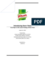 Principles of Marketing Term Paper on Knorr Pasta