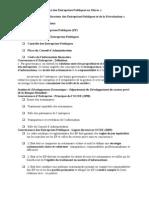 Réforme Et Gouvernance Des Entreprises Publiques Au Maroc