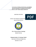 Thesis Paper on Performance Of Enhanced Solar Dryer Integrated with Heat Storage System for Fruits & Vegetables Drying