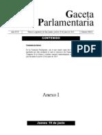 Gaceta Parlamentaria 18 de Junio
