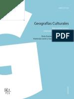 Zusman, Perla Brígida (Cord). Geografías Culturales - Aproximaciones, Intersecciones y Desafíos