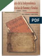 Diccionario de La Independencia en Las Provincias de Sonora y Sinaloa Lopez Alanis