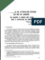 1986 Escola de 2 Grau No Estado Do Rio de Janeiro