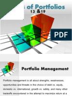Types of Portfolios in Finance