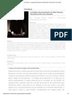 Revista Observaciones Filosóficas - La Imagen Del Pensamiento en Gilles Deleuze; Tensiones Entre Cine y Filosofía