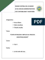 Trabajo de Socioeconomia-etapa Petrolera e Impulso Al Proceso Industrializador