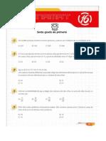 Matemáticas y Olimpiadas- 6to de Primaria Conamat 2013 Lima