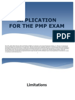 APPLICATION FOR THE PMP EXAM