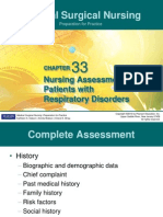 Pulmonary Assessment and Disorders CH 33 34 35 36 Osborn 2012