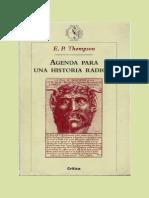 THOMPSON, E. P. Agenda Para Una Historia Radical [Em Espanhol]