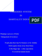 Application of Embedded System in Hospitality Industry