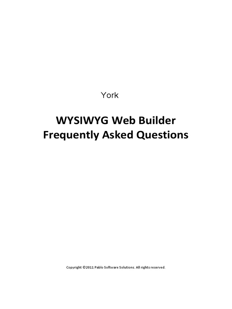 Wysiwyg Web Builder Faq Web Design Html