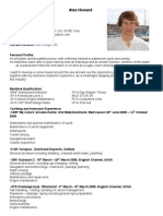 Alex Howard CV