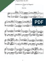 Brahms Johannes Variations Sur Theme Paganini