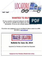 Wanted to Buy Bulletin - June 18, 2014