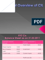 Financial Overview CIL11-12 SK Singh