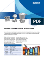 Nozzles Equivalent to GE MS6001FA SULTZER 17 JUN