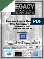 American Legacy Magazine's 10th Anniversary Gala