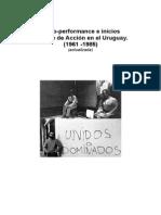 Proto-performance e inicios del Arte de Accion en Uruguay 1961-85 (Ampliada)