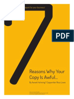 The 7 Reasons Why Your Copy is Awful