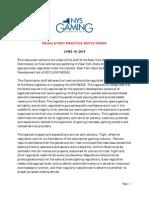 Regulatory White Paper, June 16, 2014
