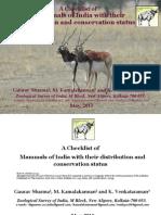 A Checklist of Mammals of India