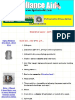 Washing Machines - Troubleshooting Direct Drive Clothes Washers