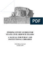 Finding Study Guides for State Civil Service Exams: