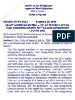 e. Ra 8553 an Act Amending Section 41(b) of Republic Act No. 7160, Otherwise Known as the Local Government Code of 1991