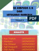 Ppt Kaidah Simpson Dan Integrasi Numerik Kel 6