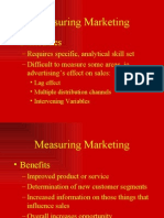 MEASUREMENT OF MARKETING / MARKET ÖLÇÜMLEMELERİ