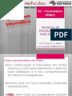 06 - Formulários HTML5