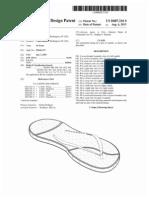 Pair of sandals (US patent D687216)