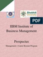 IIBM Shobit Prospectus