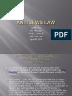 anti jews law  project due today april 10 20141