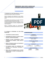 Distribuidor Linha Dupla Modular DM DMM DMG Catálogo Português