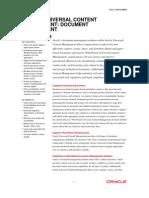 Universal Content Document Management Datasheet