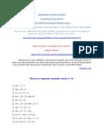 Equações de 1º Grau