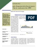 Articulo. Perspectivas Economicas y Financieras de La Economia Costarricense Para El Año 2014