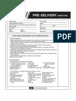 PDI Inspection Sheet En