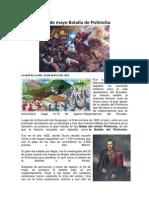 El 24 de Mayo Batalla de Pichincha
