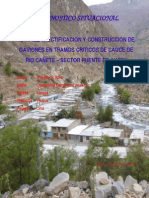 Diagnostico Para La Construccion de Gaviones en Tramos Criticos de Cauce de Rio Cañete – Sector Puente de Auco