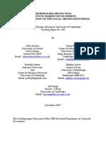 Shareholder Protection and Stock Market Development