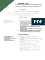 Amanda Rivera's CV
