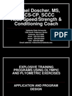 Explosive Training Programing for Sport