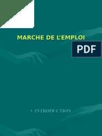 Marché de l'emploi.2008 ppt