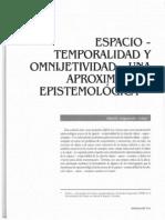 Espacio - .Objetividad y Omnijetividad, Una Aproximacion Epistemiologica - Adolfo Izquierdo Uribe