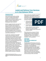 Quality of Antenatal and Delivery Care Services in Six Countries in Sub-Saharan Africa